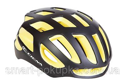 Шлем велосипедный СIGNA TT-4 черно-желтый (черно-желтый)