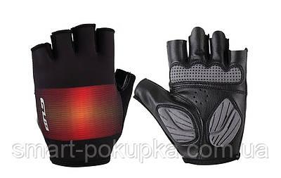 Перчатки велосипедные GUB Gradient с гелем черный с красным размер (черный с красным)