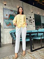 Стильный женский  костюм брюки и кофта с капюшоном батал, фото 1