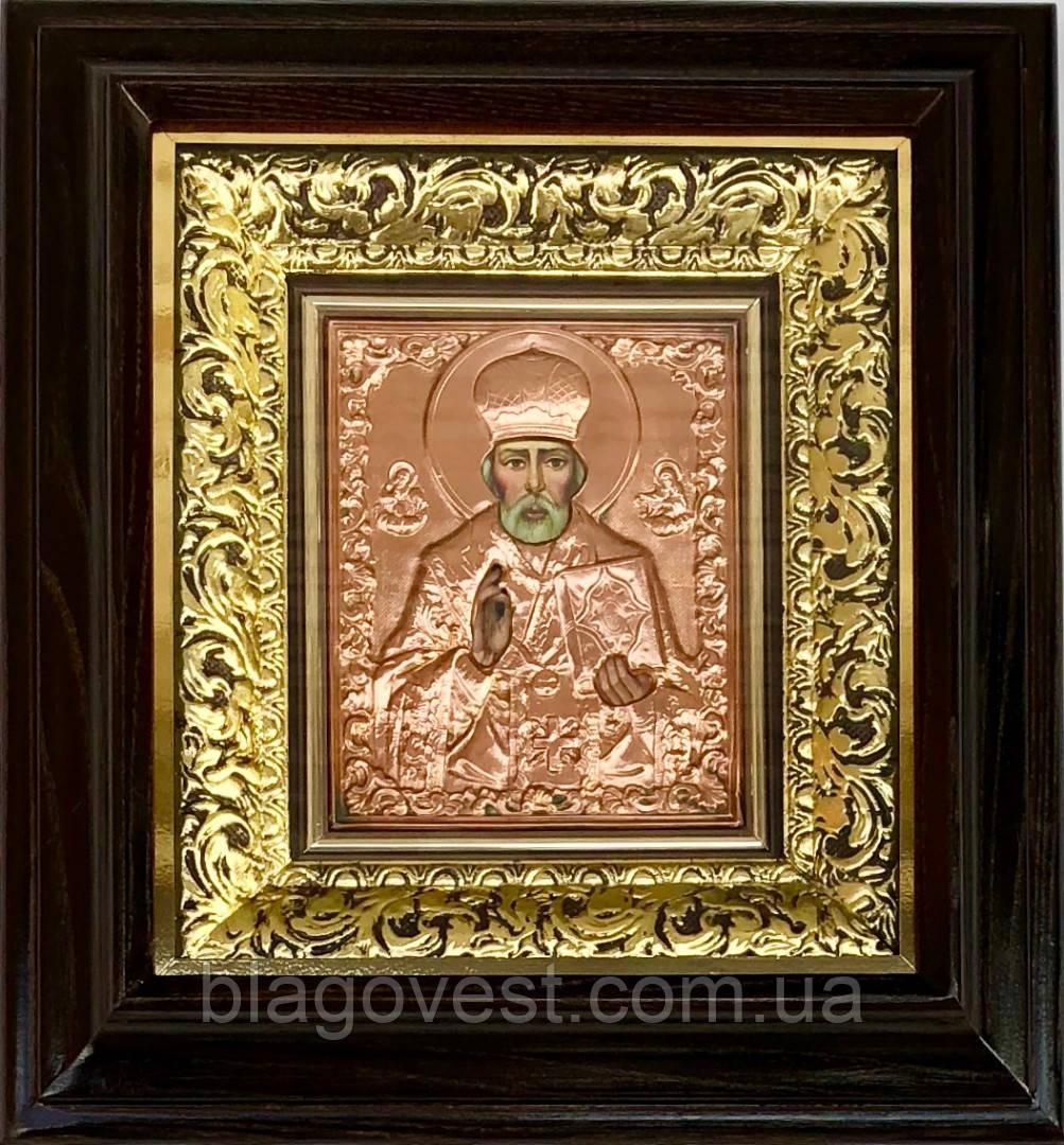 Ікона Свт.Микола 36х39см (мідь,карбування)