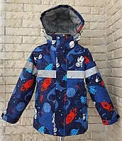 Весняна курточка на хлопчика 104-128 зі світловідбивачем, фото 1