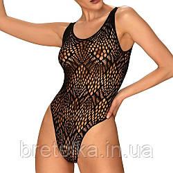 Боди женское кружевное с вырезом на спине Obsessive B127