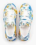 💕 Кросівки, кеди жіночі Alexander McQueen білі різнокольорові розмальовані александер макквін кастомні, фото 9