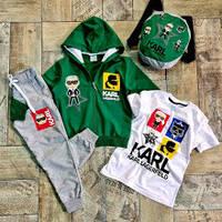 Спортивні костюми трійка+рюкзак на вік :4-5,5-6 років