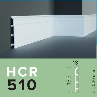 Плинтус  GRAND DECOR HCR 510 (2.00М) для стен  с полимеру