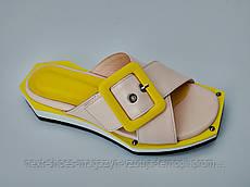 Шлепанцы женские жёлтые Ripka Турция летние арт 1007-400 модель 4981