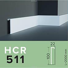 Плинтус  GRAND DECOR HCR 511 (2.00М) для стен с полимеру