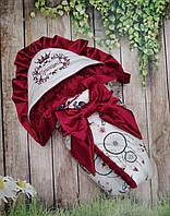Конверт на выписку с  вышивкой и рюшами  Принцесса, фото 1