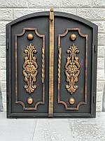 Дверца под коптилку арка 600х400мм метал 3мм