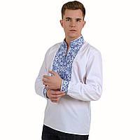 Чоловіча вишиванка  біла з вишивкою хрестиком Життєслав