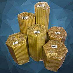 Восковые церковные свечи №120 - 620 шт/пачка. Диаметр- 4 мм.Высота - 15.5 см.