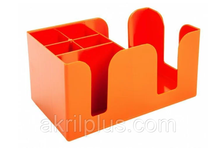 Барный организатор для кофейни на 6 отделений оранжевый