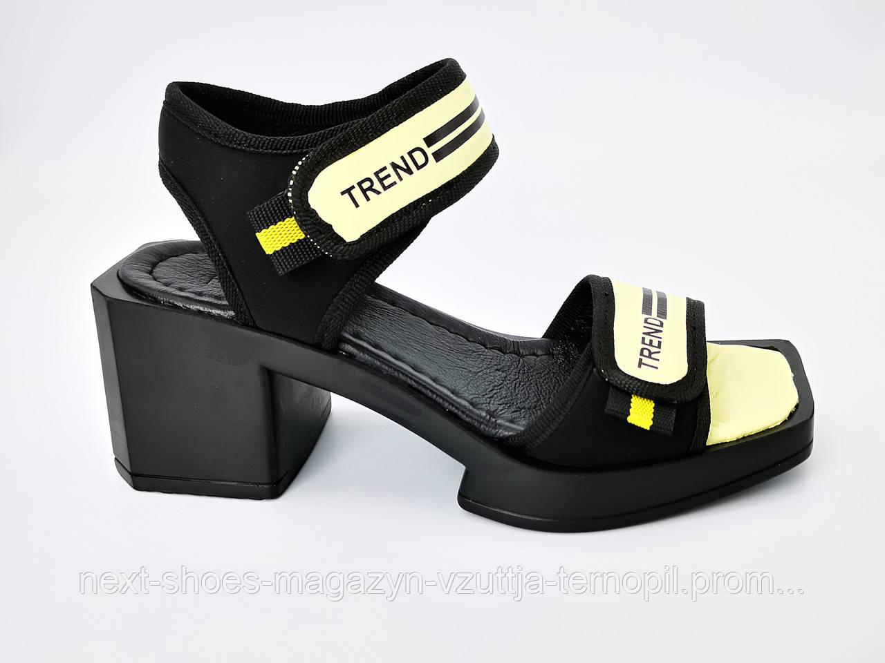 Босоножки TREND женские черные Ripka Турция летние арт 153-37TSYH модель 4982