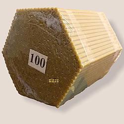 Восковые церковные свечи №100 - 507 шт/пачка. Высота - 17 см. Вес 2 кг. Диаметр- 5,5 мм.