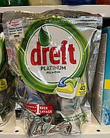 Капсули для миття посуду в посудомийній машині Dreft Platinum All in ONE ORANGE 40 капсул