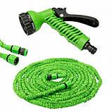 Садовый шланг для полива 22,5 метров Magic hose + распылитель. Саморастягивающийся шланг, фото 3