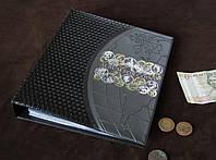 Альбом для 692 монет и 12 бон ЛЮКС черный