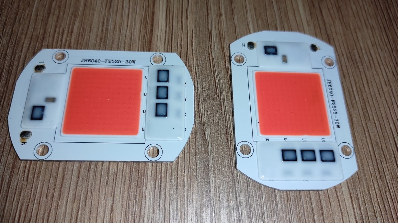 №56 Фито Светодиод 30 ватт 220В Smart IC led 30w 220v полный фитоспектр фито для растений 1.5 мм.