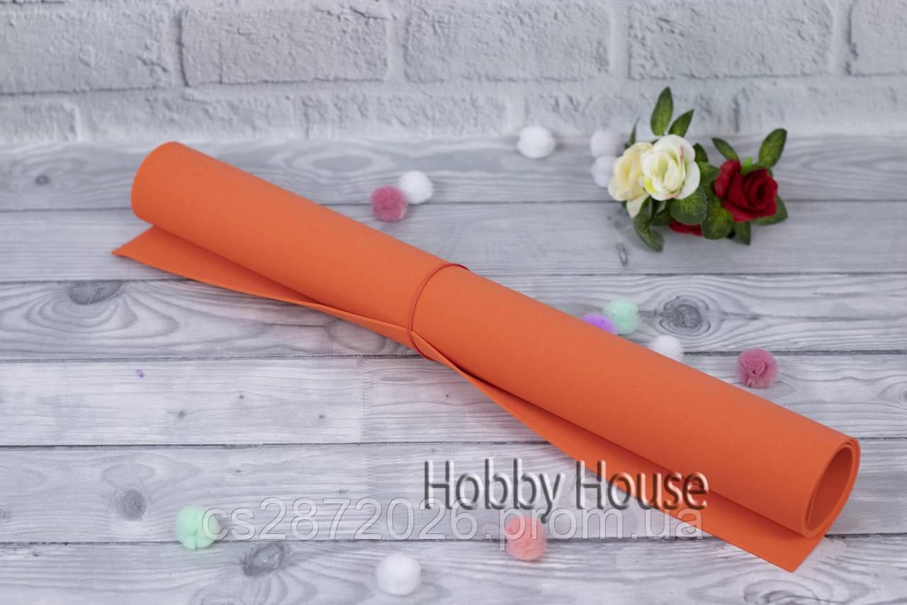 Фоамиран 2мм 50х50см оранжевый