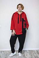 Трикотажний жіночий костюм дуже красивий і стильний, фото 1