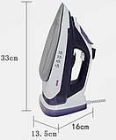 Бездротовий домашній парова праска потужний DSP 1072 керамічний побутової з антипригарним покриттям для прасування, фото 4