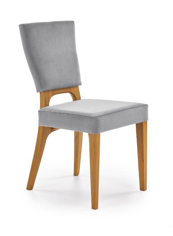 Крісло WENANTY сірий/дуб медовий (Halmar)