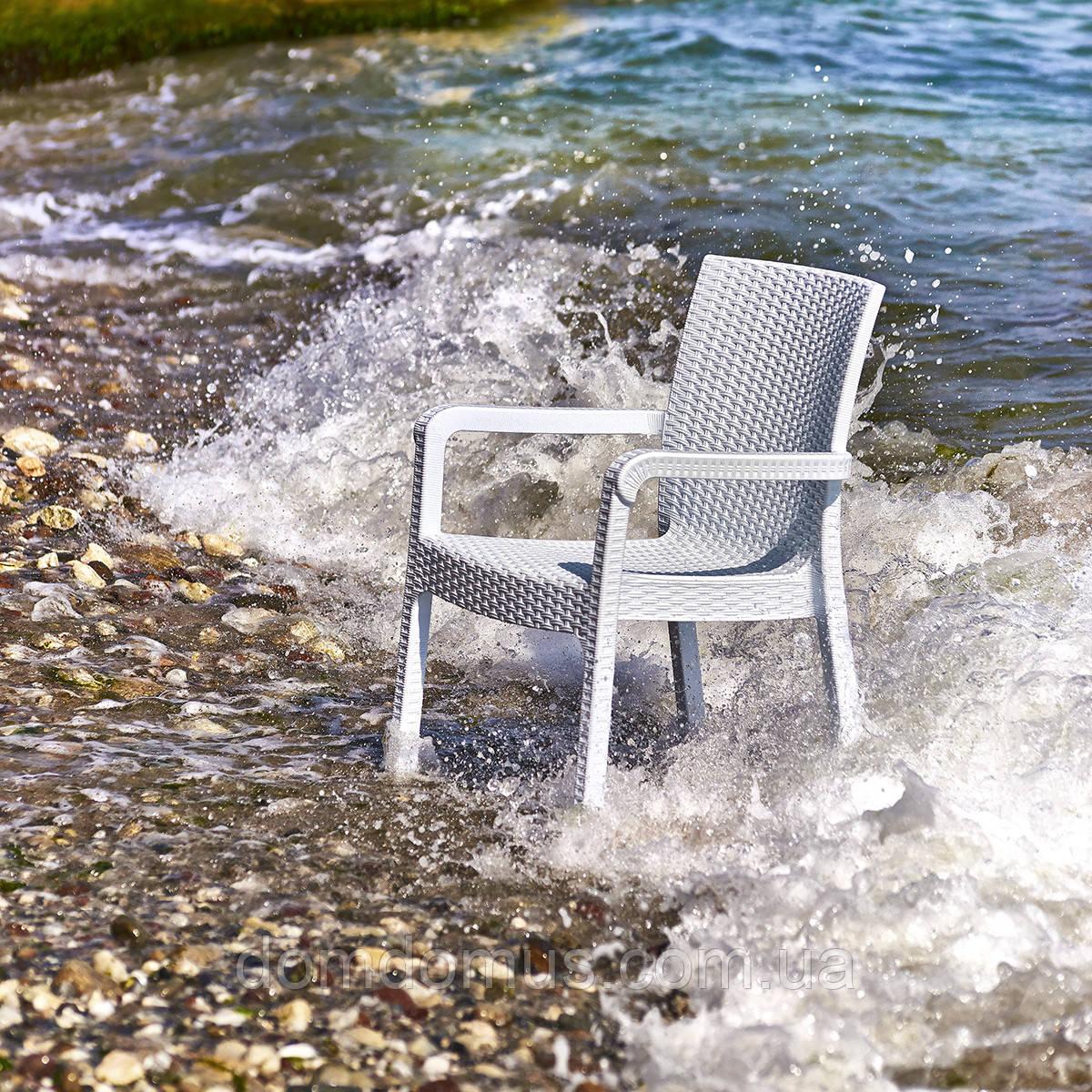 """Крісло """"Markiz"""" Irak Plastik, штучний ротанг Туреччина біле"""