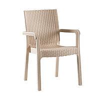 """Кресло """"Markiz"""" Irak Plastik, искусственный ротанг Турция бежевый"""