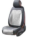 Чехлы 3D с алькантары Elegant Modena на передние и задние сидения автомобиля EL 700 133 серые, фото 2