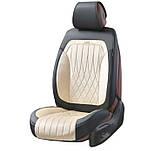 Чехлы 3D с алькантары Elegant Modena на передние и задние сидения автомобиля EL 700 134 бежевые, фото 2