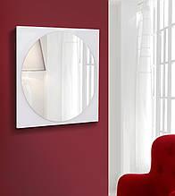 Дзеркало кругле на квадратній основі 600х600