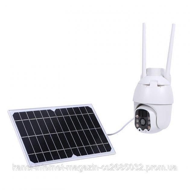 Вулична IP камера відеоспостереження Wi-Fi з сонячною панеллю Q5 Solar Battery