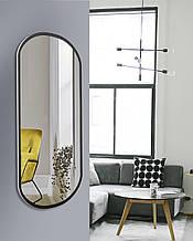 Зеркало для прихожей, спальни, черно - белое 1300 х 600 мм