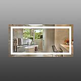 Зеркало с подсветкой для ванной комнаты 1200х600 мм, фото 2
