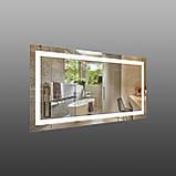 Зеркало с подсветкой для ванной комнаты 1200х600 мм, фото 3