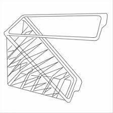 Упаковка блистерная для сендвичей треугольная 11х11х6,5 см. 100 шт/уп. пластиковая, прозрачная (Garc