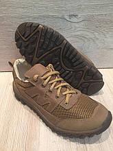 Кросівки з натуральної шкіри зі вставкою з сітки