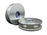Ролик с підшипником цинк 65 мм