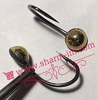 Летняя мормышка на карпа Золото L-23 мм Гладкая