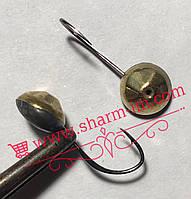 Летняя мормышка на карася Золото L-19 мм Граненая