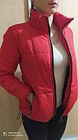 Весенняя женская куртка черная бежевая пудра мокко хаки красная р. 42-52 короткая женская куртка новинка 2021