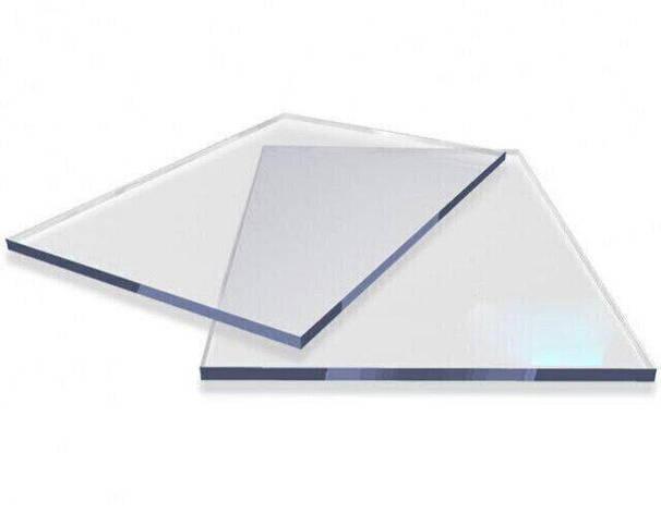 Оргскло (монолітний полікарбонат) Carboglass 1.5 мм шматки 1023*3050мм Прозорий, фото 2