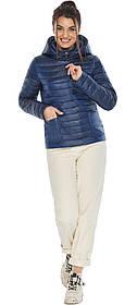 Куртка сапфировая женская с капюшоном модель 67510