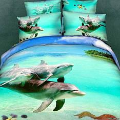 Комплект постельного белья Love You Океан семейный (2 пододеяльника)