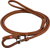 73556 Collar WauDog Soft Кожаный круглый поводок-удавка коричневый, 183см/4мм