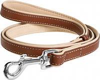 7255 Collar WauDog Soft Кожаный поводок коричневый, 122см/13мм