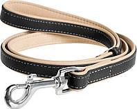 2218 Collar WauDog Soft чорний Шкіряний ремінець, 183см/25мм