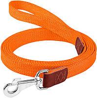03434 Collar Брезентовый поводок оранжевый, 3м/25мм