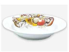 Тарелка суповая ДФЗ Грибы d=200 мм (09261)