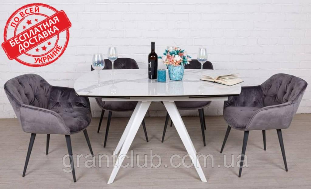 Стол обеденный COVENTRY керамика белый 130/200*89.5 Nicolas (бесплатная доставка)